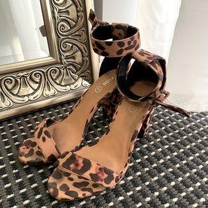 Leopard print sandals | autumn tone sandals